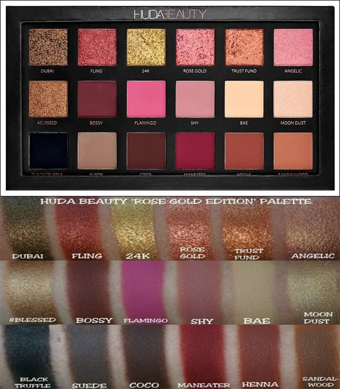 Huda Beauty Textured Shadows Palette Rose Gold Edition Online