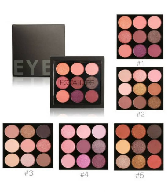 FOCALLURE 9 Colors Makeup Eyeshadow Palette in Bangladesh