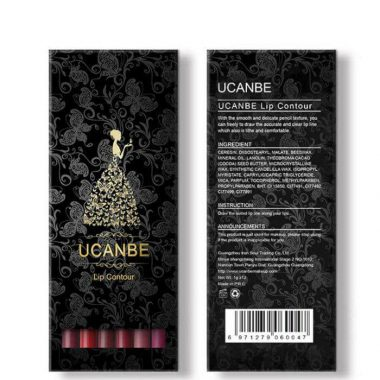 12pcs/lot UCANBE Brand Matte Lip Liner Set Lip Contour Pencil Waterproof Lips Tattoo Batom Makeup Kit Lipliner Pen