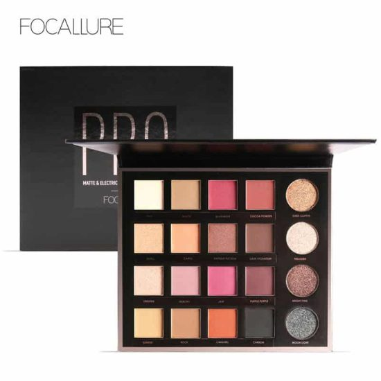FOCALLURE 20 Colors Matte&Electric Pro Eyeshadow