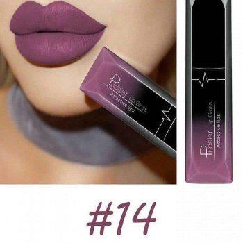 Pudaier Liquid Lip Gloss Lipstick #14