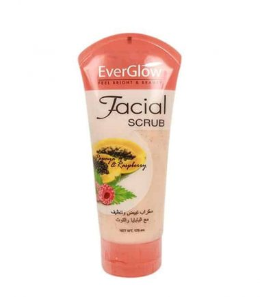 Everglow Papaya With Raspberry Facial Scrub