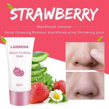 Lanbena Strawberry Blackhead Mask Pore Strips