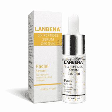 LANBENA Six Peptides Serum 24k Gold