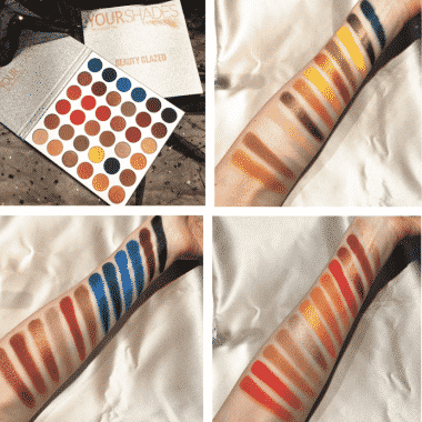 beauty glazed your shade eyeshadow palette swatch