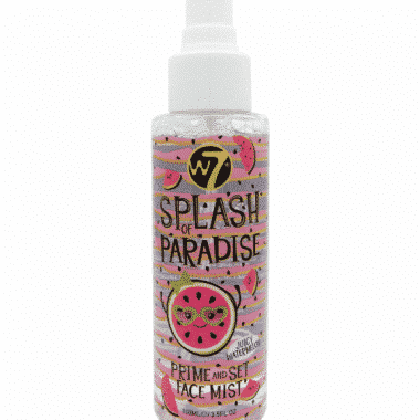 w7 splash of paradise prime and set face mist - juicy watermelon