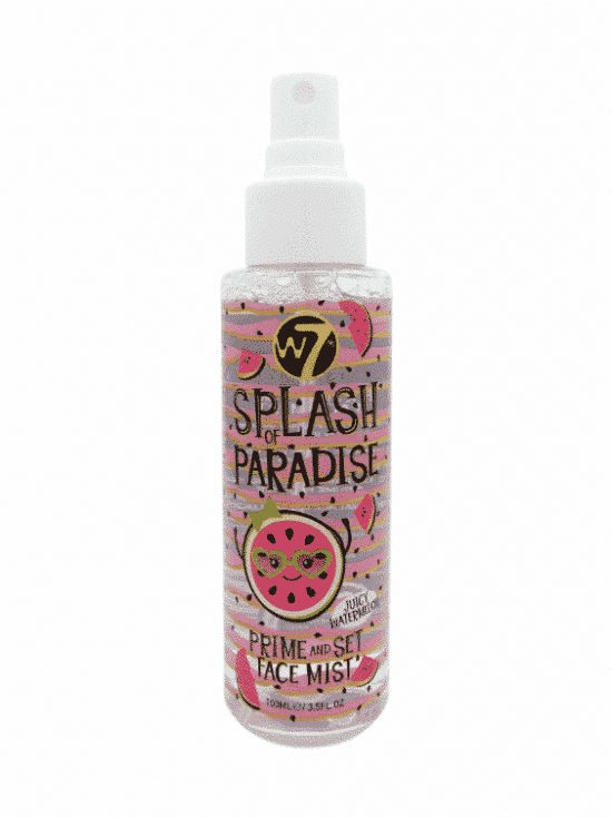 w7 splash of paradise prime and set face mist - juicy watermelon