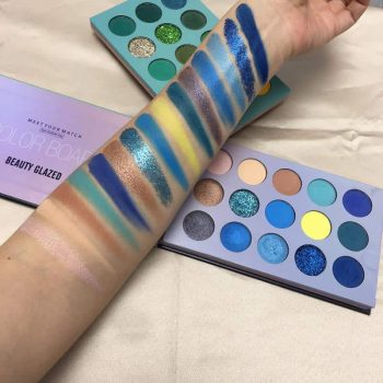 beauty glazed eyeshadow 60 color swatch