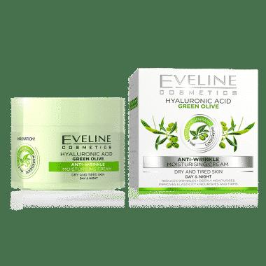 Eveline green olive anti-wrinkle day night cream