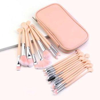 Maange Makeup Brush With Pink Bag 20pcs