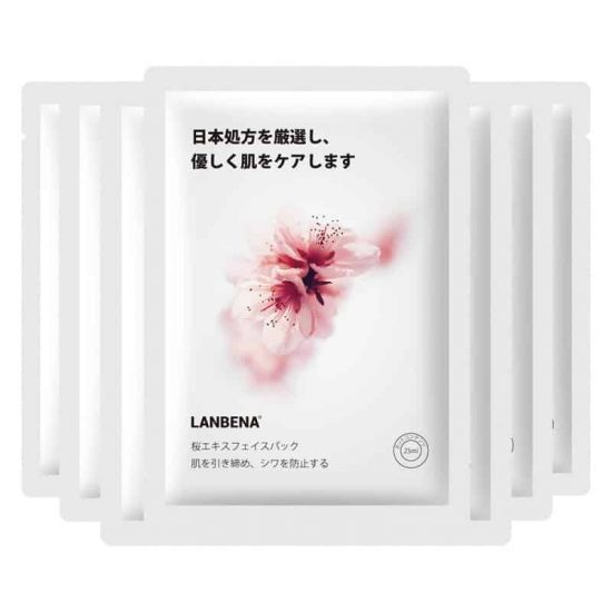 lanbena cherry blossom sheet mask