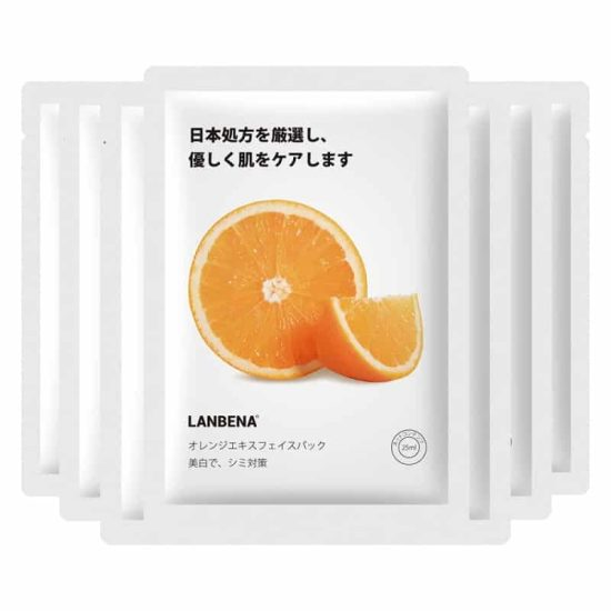 lanbena orange sheet mask