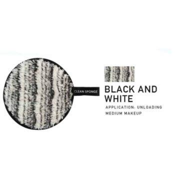 maange puf black and white