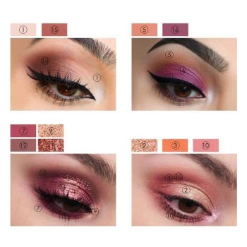 FOCALLURE SUNRISE Eyeshadow Palette swatch