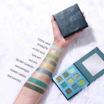 Focallure SECRET Green Eyeshadow Palette swatch