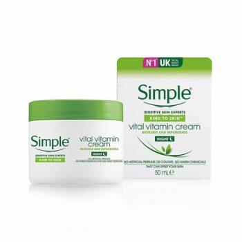 Simple Kind To Skin Vital Vitamin Night Cream - 50ml