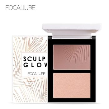 focallure sculpt glow contour & highlight palette duo fa69