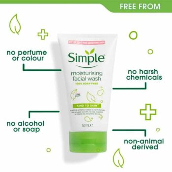 how to work simple Moisturising Face Wash 150ml