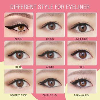 pink flash eyeliner swatch