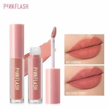 pink flash liquid lipstick swatch