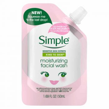 simple moisturizing facial wash 50ml