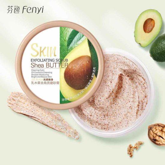 Fenyi Shea Butter Body Scrub | Avocado Exfoliating Scrub100g
