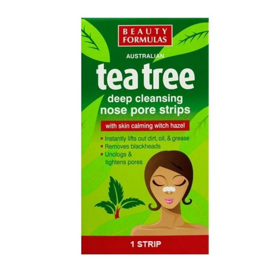 Beauty Formulas Tea Tree Deep Cleansing Nose Pore Strip - 6pcs