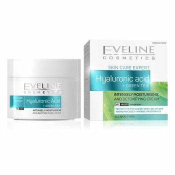 EVELINE Hyaluronic Acid + Green Tea Intensely Moisturizing And Detoxifying Day/Night Cream - 50ml