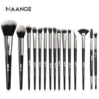 MAANGE 15Pcs Makeup Brushes Set - Black Color