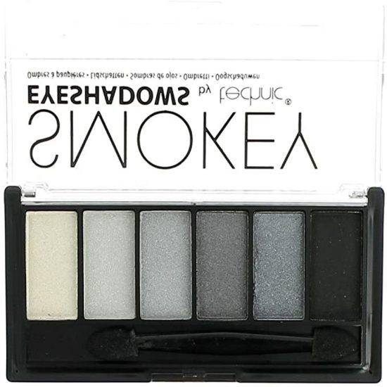 Technic Matte Finish Smokey Eyeshadow 6 Colour Palette - White Grey Black