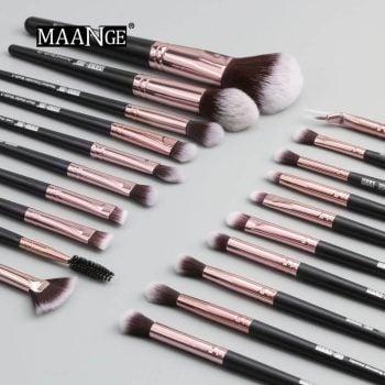 Maange Makeup Brush 20 PCS - Black Color