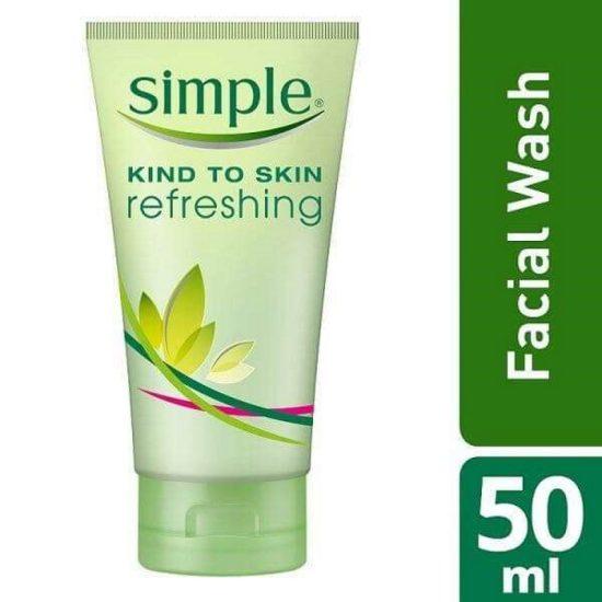 simple kind to skin refreshing facial gel wash 50ml