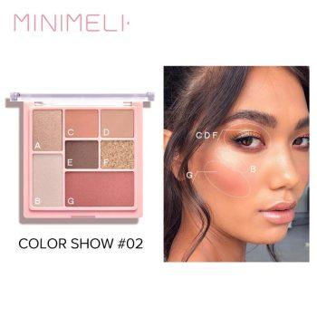 minimeli 3 in 1 matte eyeshadow highlighter & blush palette