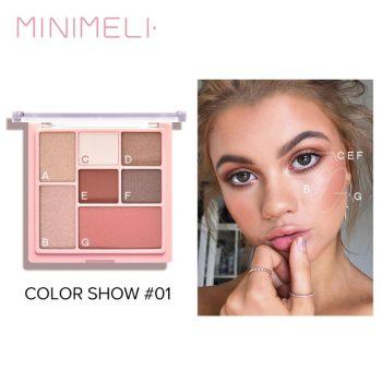 minimeli 3 in 1 matte eyeshadow & highlighter & blush palette